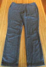 BOO RADLEY BNWT Grey Diagonal Fine Striped Flat Front Wool Blend Winter Pants 16