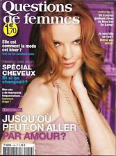 QUESTIONS DE FEMMES (POCKET) n°159 octobre 2010  Marcia Cross/ Dassin/ Mergault