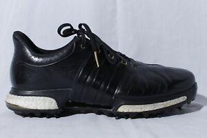 Adidas Tour 360 Boost Men's Black & Gold Golf Shoes Cleats 8.5