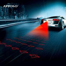 Anti collision Láser LED Luz Antiniebla Trasera Lámpara de Advertencia de freno automático de aparcamiento Corazones!