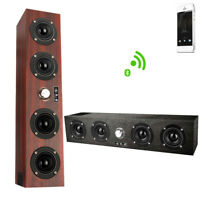 Wooden Wireless Bluetooth Speaker Soundbar Subwoofer for iPhone Android Phones