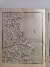 Yorkshire 1794 Cary's Antique Map Bridlington Grimsby Hornsea Pattrington