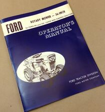 Ford Rotary Mower 36-Inch For 80 And 100 Lawn Garden Tractors Operators Manual