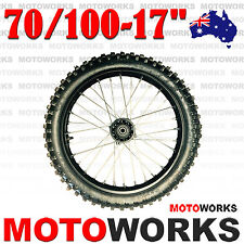 "70/100 - 17"" Inch Knobby Tire Rim Front wheels BIGFOOT Dirt Pit Trail Por Bike F"