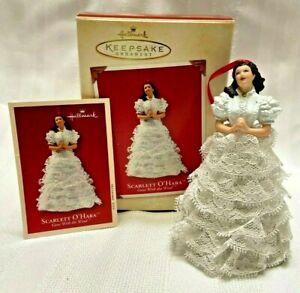 2002 Gone With The Wind Scarlett O'Hara Porcelain Keepsake Hallmark Ornament