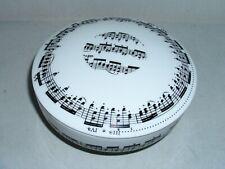 Zierdose Schmuckdose Aufbewahrungsdose Porzellan Notenlinien Noten Musik