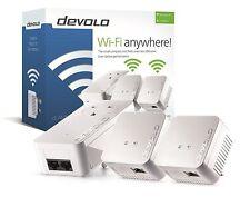 DEVOLO 9640 POWERLINE DLAN 550 WIFI NETWORK KIT WITH 3 ADAPTERS/PLUGS