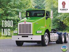 KENWORTH Truck T800 LNG Brochure + Link Cabmate Catalog, T-800, 2008