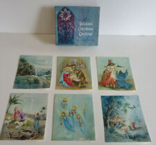 Unused VTG HALLMARK RELIGIOUS CHRISTMAS GREETING CARDS Qty 17 WITH BOX BIble