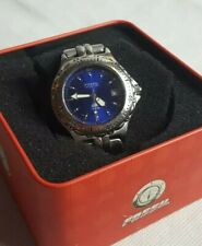 Beautiful Boxed Fossil Blue 100 Meters Men's Quartz Watch Working
