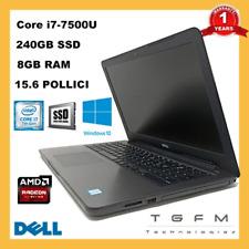 PC Portable DELL Inspiron i7 240GB SSD 8GB RAM 15.6 FHD Radeon R7 Graphics
