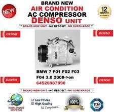 DENSO ARIA CONDIZIONATA COMPRESSORE AC BMW 7 F01 F02 F03 F04 3.0 2008- > IN POI