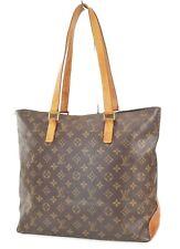 Authentic LOUIS VUITTON Cabas Mezzo Monogram Shoulder Tote Bag Purse #38923