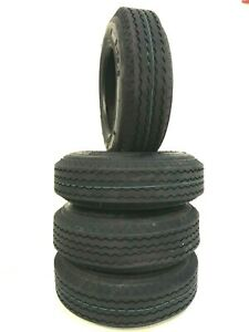 FOUR-NEW 8-14.5 TRAILER TIRE 14 PLY RATED HEAVY DUTY 8 14.5 Low Patform trailer