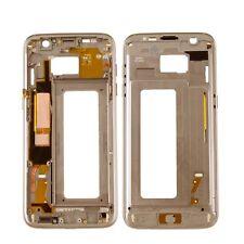 Housse Intermédiaire Cadre Châssis Samsung Galaxy S7 Edge SM-G935F Doré Utilisé