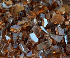 "30 LBS 1/4"" COPPER REFLECTIVE FIREGLASS Fireplace Fire Pit Glass Rocks Crystals"