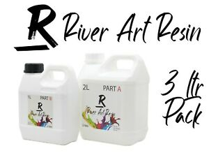 River Art Resin High Performance 2:1 Epoxy Resin Ultra-Clear Casting 3Ltr Pack