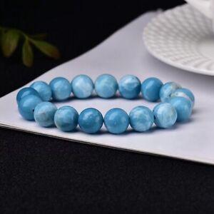 10mm Larimar Gemstone Cabochon Atlantis Stone Blue Pectolite Gemstone Bracelet