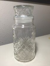 Vintage Planter's Mr. Peanut Diamond Glass Jar 8""