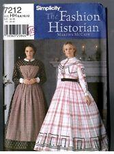 Simplicity 7212 Victorian / Civil War Dress Gown Pattern Uncut Size 6 8 10 12