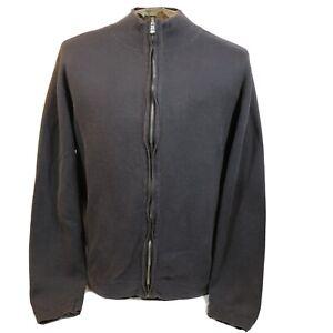 Nat Nast Luxury Originals Men's Size Large Full Zip Up Blue Jacket Cotton Nylon