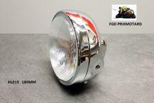 Headlight Universal Motorcycle round 180MM Metal Chrome Suzuki