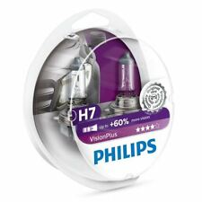 H7 PHILIPS VisionPlus 12V 55W 60% more vision Car Headlamps 12972VPS2 Twin