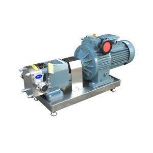 Food Grade Rotary Lobe Pump Transfer Pump for Foodstuff and Cosmetics 220V
