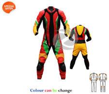 Tute in pelle e altri tessuti traspirante multicolore in pelle per motociclista