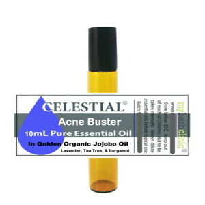 ACNE BUSTER ROLL ON HEALTHY NATURAL | JOJOBA TEA TREE LAVENDER BERGAMOT