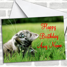 Playful Kitten Birthday Customised Card