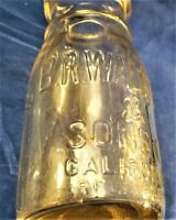 Vintage Milk Creamer Bottle B.R.Waldron & Sons Califon, NJ 1/2 Pint