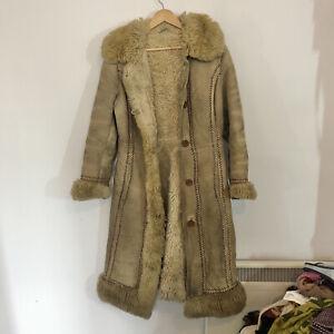 vintage 70s pennylane suede afghan coat