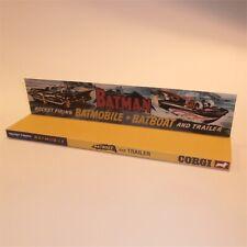 Corgi Toys  267 Gift Set 3 Batman Batmobile Batboat Display Stand Box Insert
