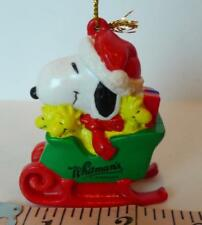 Peanuts Snoopy Whitman Sleigh Decoration Woodstock