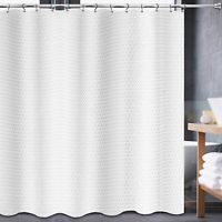 Elegant White 100% Cotton Cloth TOWEL Fabric Shower Curtain 72x72 Metal Grommets