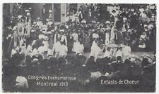 Enfants de Choeur Congrès Eucharistique MONTREAL Quebec 1910 Federated Press