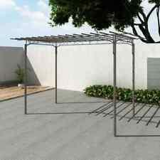 vidaXL Pérgola de Jardín Acero Marrón 215 cm Cenador Arco de Rosas Enredaderas