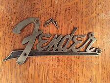 Original Fender Flat Logo Early 60's Brown Blonde Amps