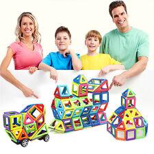 76PCS Kids DIY 3D Magnetic Blocks Multicolour Construction Building Toy Puzzles