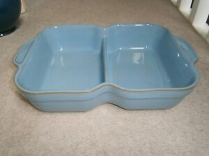 SUPERB RARE DENBY COLONIAL BLUE DIVIDED SERVING DISH EXCELLENT LIGHTLY USED COND