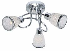 Modern Decorative 3 Way Ceiling Light Spotlight Ceiling Fixture Chrome G9 LED