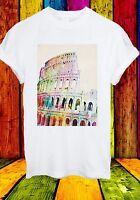 The Colosseum Coliseum Rome Italy Amphitheater Men Women Unisex T-shirt 660