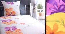 6 teilig Bettwäsche Bettlaken Set Mikrofaser 135x200 Tarrington House Weiß Gelb