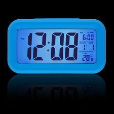 Snooze Electronic Digital Alarm Clock LED light Light Control Thermometer Lot
