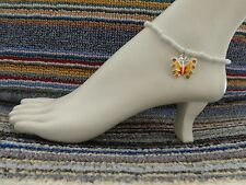 anklet beach wear stretchy handmade Butterfly charm ankle bracelet beads