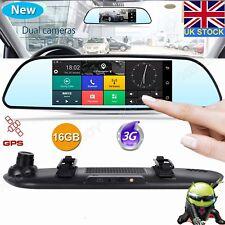 "XGODY 7"" Car DVR 1080P HD Dual Lens Camera Rearview Mirror Dash Cam GPS Nav Wifi"