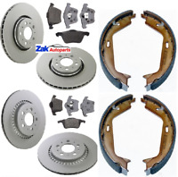 VOLVO XC90 (03-11) FRONT AND REAR BRAKE DISCS AND PADS & HANDBRAKE SHOES SET
