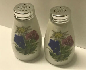 country house style porcelain cow spice shakers white porcelain salving Older vintage salt and pepper shakers