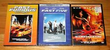 Fast Five (DVD) & XXX (DVD)& The Fast and the Furious Tokyo Drift Vin Diesel NEW